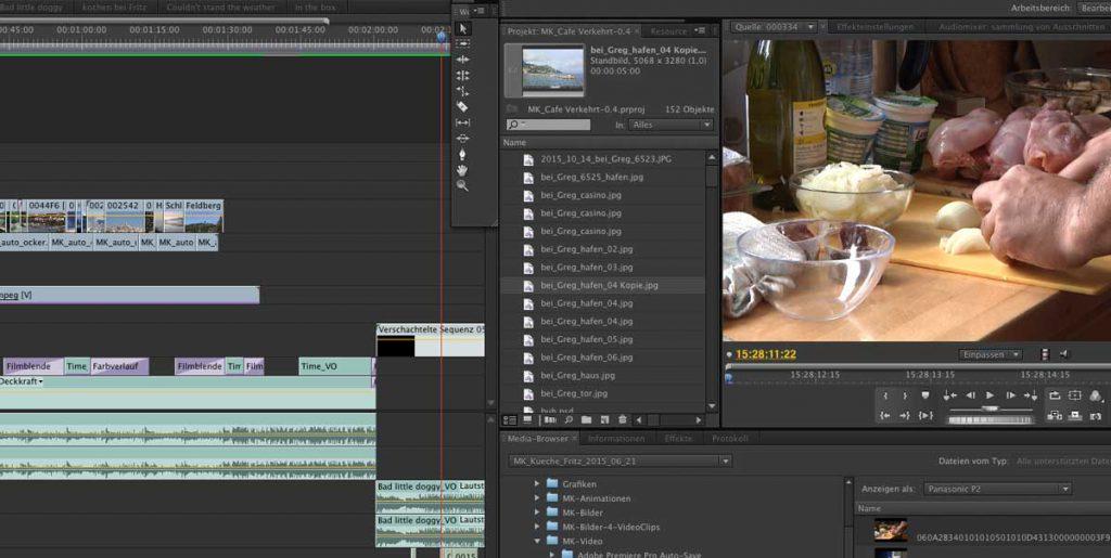 Videoschnit mit Premiere Pro