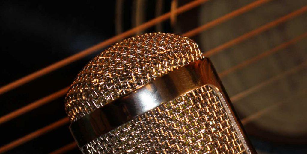 Röhrenmikro für Gitarrenaufnahme